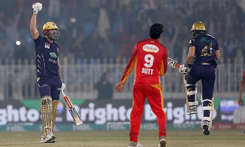 Quetta Gladiators defeated Islamabad United by five wickets