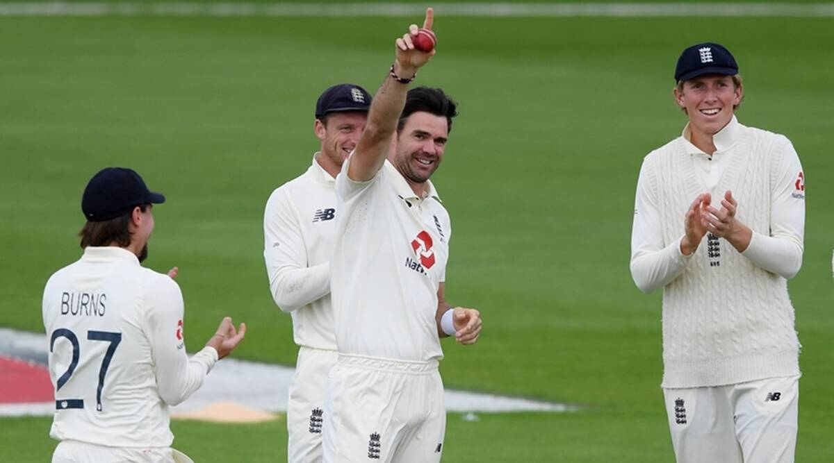 England's leading pacer James Anderson created a history