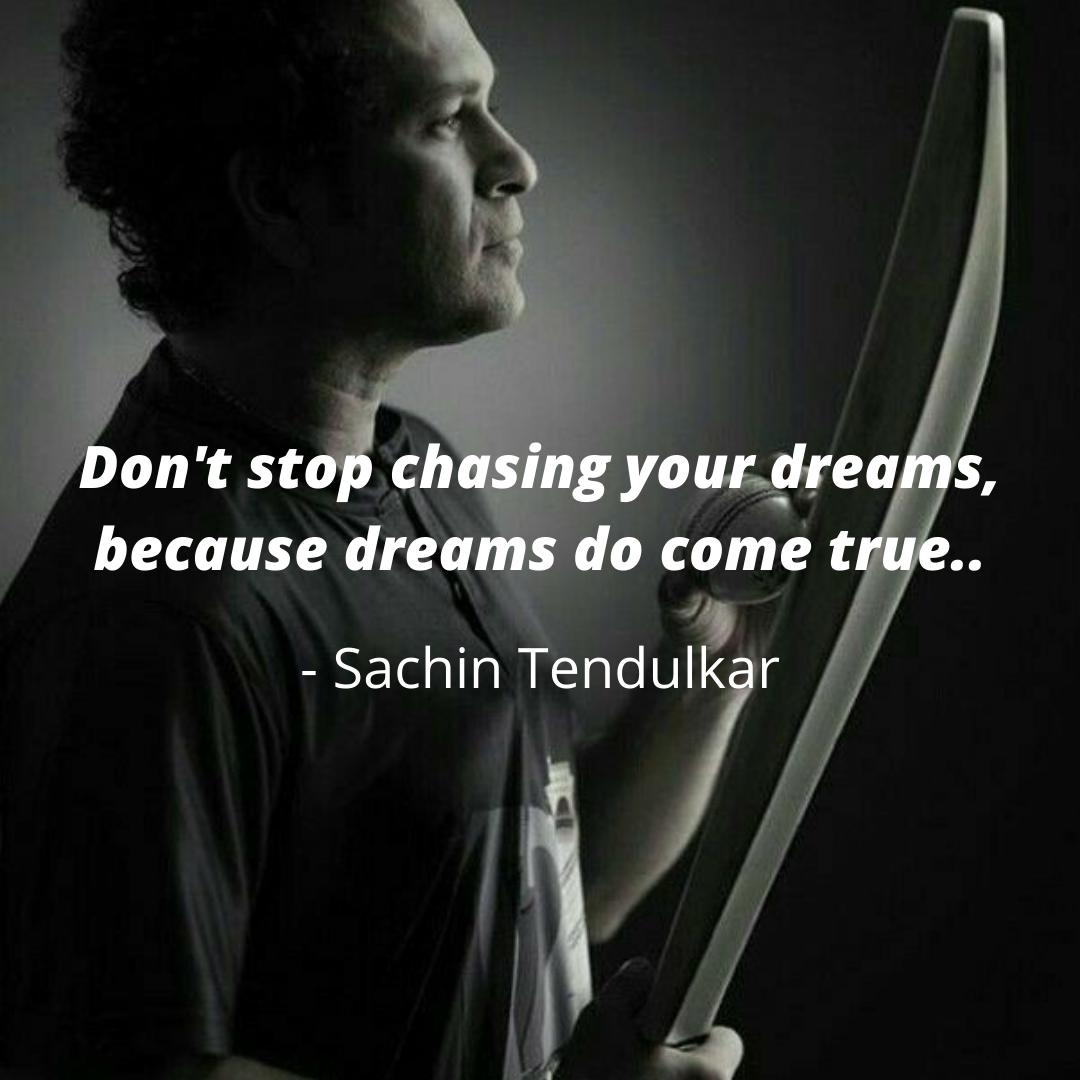Keep chasing your dreams