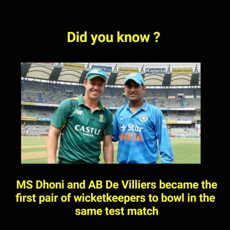MS Dhoni and Ab de Villiers Bowl in the Same Match I Cricket Fact No 3 I