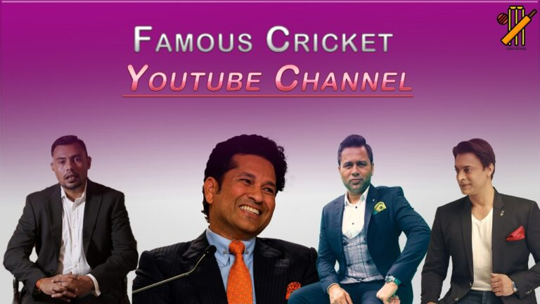 Famous Cricket YouTube Channels | Who Are They?
